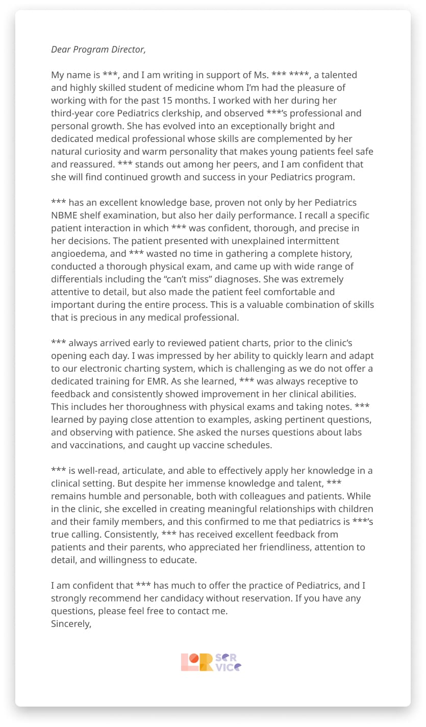 Letter of Recommendation Writing & Editing Service Professional ...