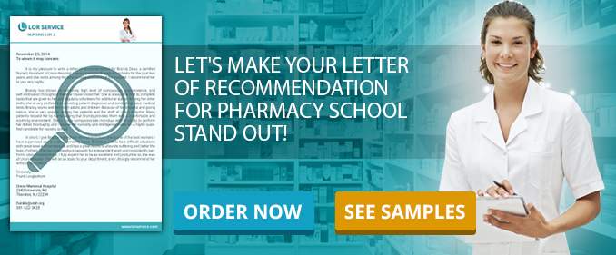 Letter Of Recommendation For Pharmacy School Writing Service  Lor