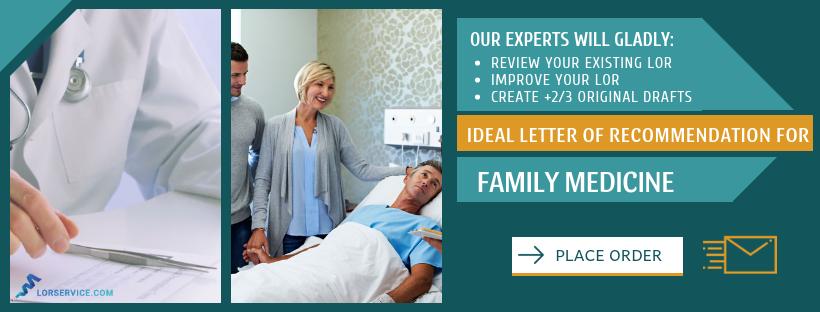 Good Family Medicine Residency Letter of Recommendation