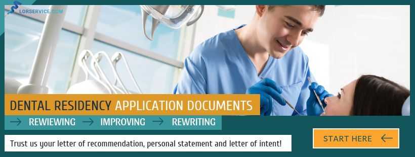 how to write a good letter of recommendation for dental residency