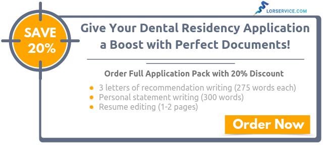 Effective Dental Residency Letter of Recommendation Sample