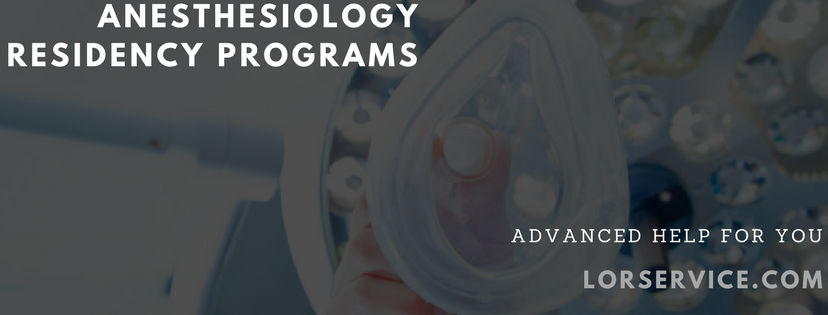 Anesthesiology Residency Programs Professional Help