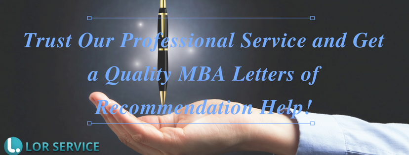 professional mba letters of recommendation service help