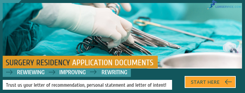 assisting with writing a letter of recommendation for surgery residency