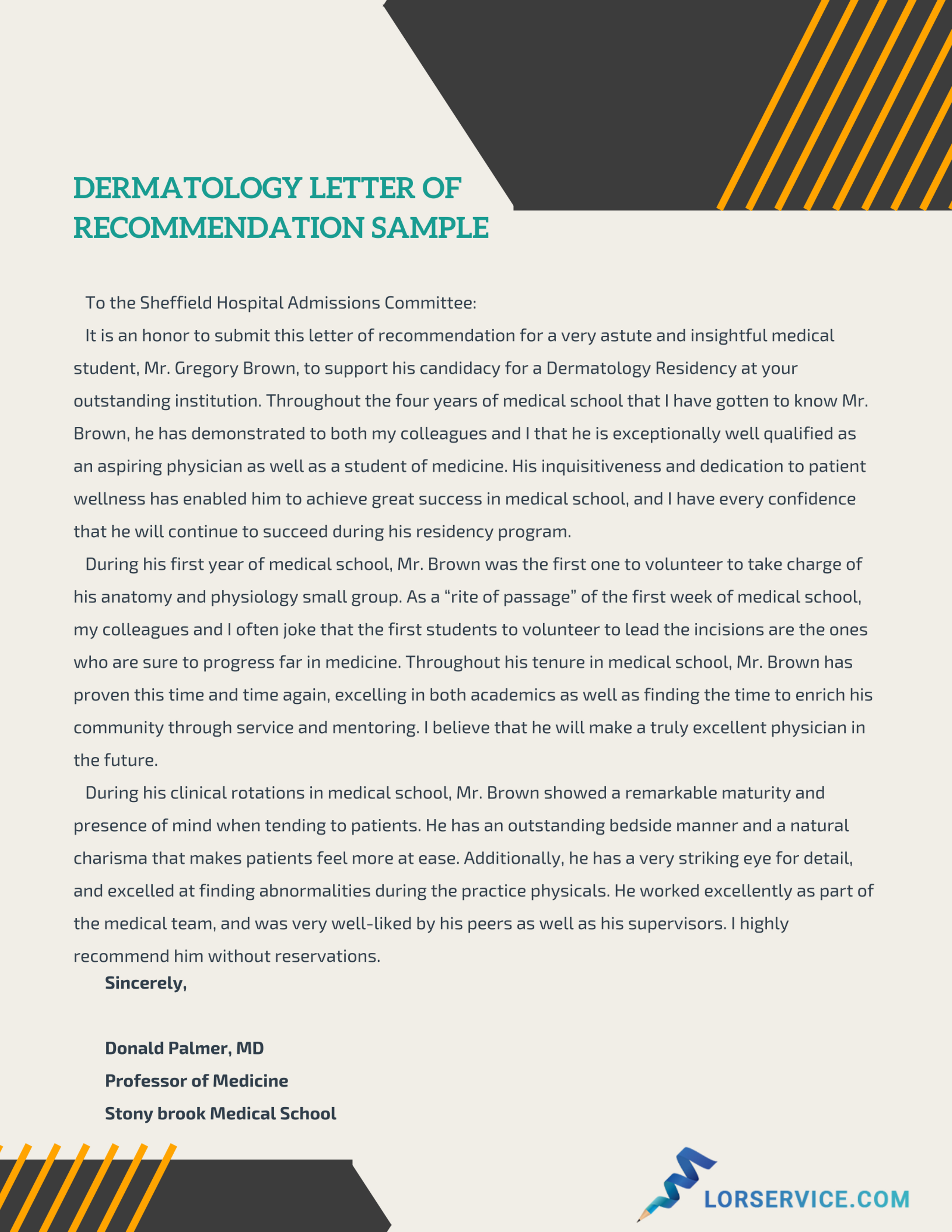 awesome dermatology residency letter of recommendation
