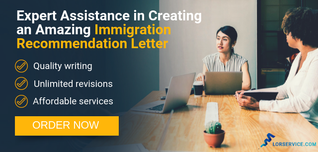 help in writing a letter for immigration recommendation