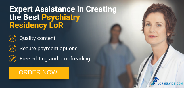 psychiatry residency letter of recommendation writing service