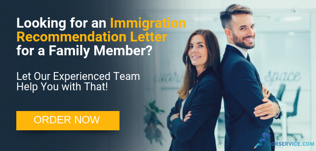 writing immigration recommendation letter for a family member