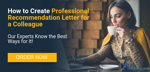 writing professional recommendation letter for a colleague
