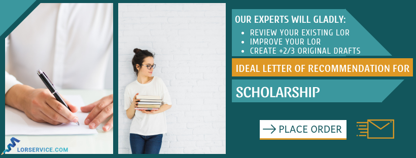 reliable recommendation letter for scholarship editing help